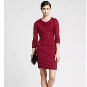 Banana Republic LS Red Knit Dress NWT